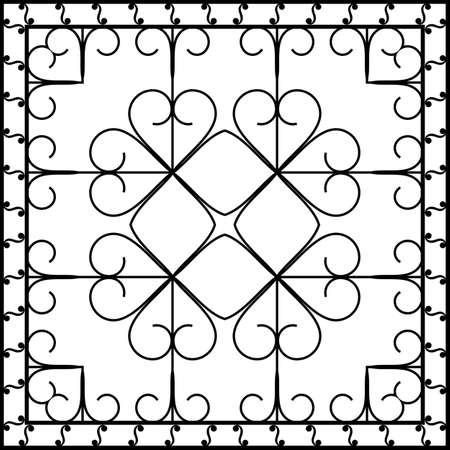 Arte Hierro forjado Chimenea vectorial