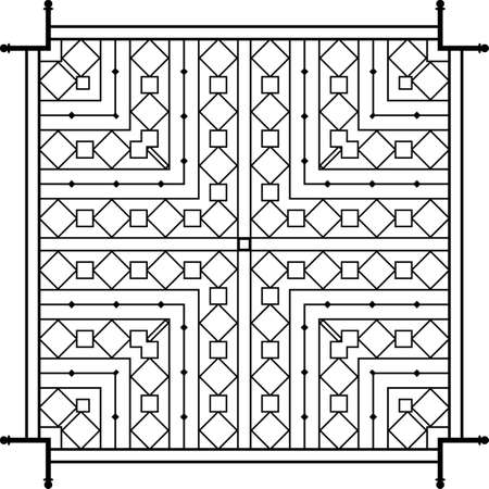 fabrication: Wrought Iron Fireplace Grill Vector Art