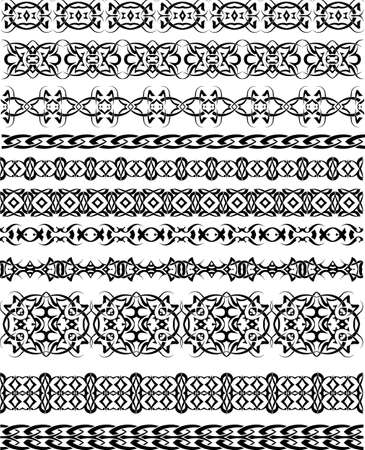 bracelet tattoo: Tattoo Tribal Borders Vector Art