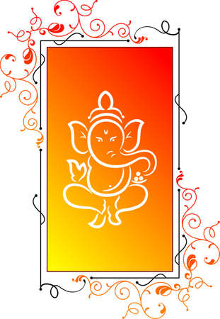 stock clip art icon: Ganesha The Lord Of Wisdom Vector Art Illustration