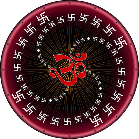 aum: Aum (Om) The Holy Motif Vector Art Illustration