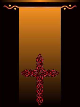 viernes santo: Arte cruzado cristiano de dise�o vectorial