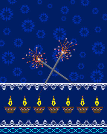 fire works: Diwali Greeting Sparkler Vector Art