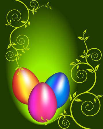 gold colour: Easter Egg Ornamental Vector Art