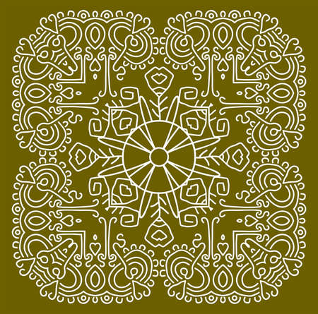 stock art: Folk, Tribal Design, Motif, Wall Painting Vector Art