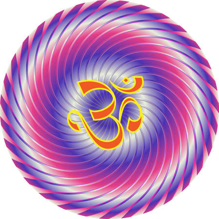 swastik: Aum (Om) The Holy Motif Vector Art Illustration