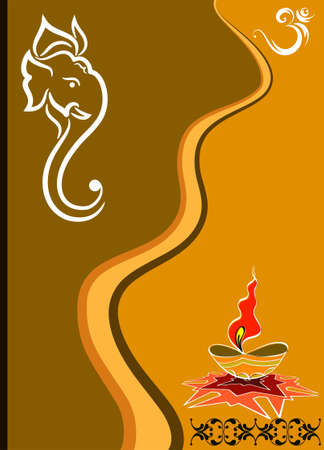 candil: Ganesha El Señor de Sabiduría Arte Vectorial