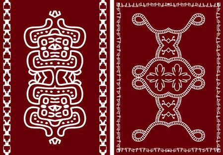tribu: Folk, diseño tribal, motivo, pintura mural de arte vectorial