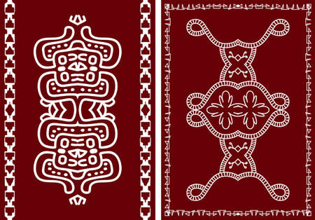 indian tribe: Folk, Tribal Design, Motif, Wall Painting Vector Art