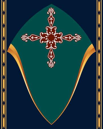 cross tattoo symbol: Christian Cross Design Vector Art