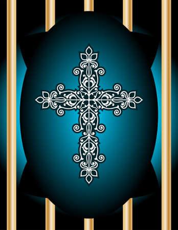 artistic jesus: Christian Cross Design Vector Art