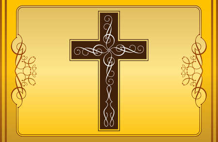 christian symbol: Christian Cross Design Vector Art