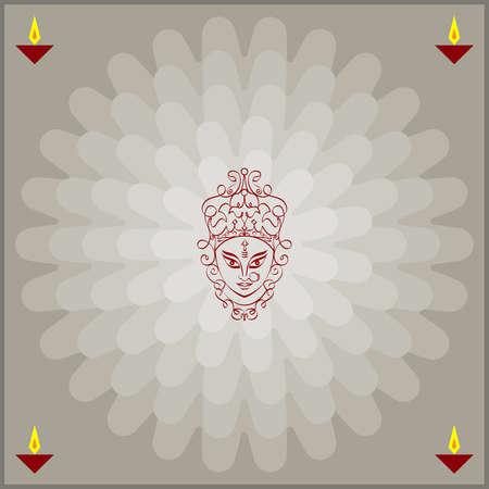 hand of god: Durga Goddess of Power Vector Art Illustration