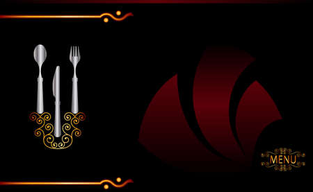 gourmet dinner: Menu Card Design Template Vector Art