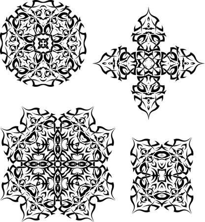 tribal design: Tribal Tattoo Design Vector Art