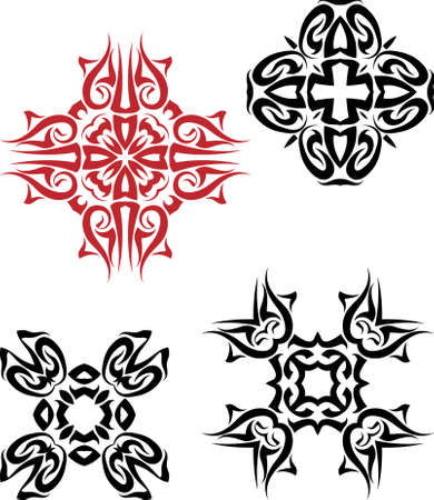 tattoo arm: Tribal Tattoo Design Vector Art