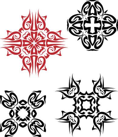 Tribal Tattoo Design vector kunst Stock Illustratie