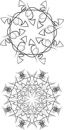 pinstripe: Pinstripe Graphics Circular : Vinyl Ready Vector Art