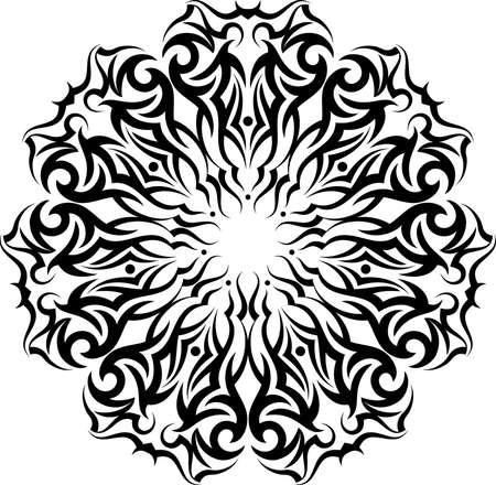 tatoo: Tribal Tattoo Circular Vector Art