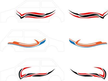 Vehicle Graphics, Stripe : Vinyl Ready Vector Art Ilustração