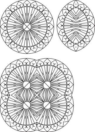 puertas de hierro: Hierro forjado Grill, Puerta, Puerta, Valla, Ventana, Arte Barandilla de dise�o vectorial