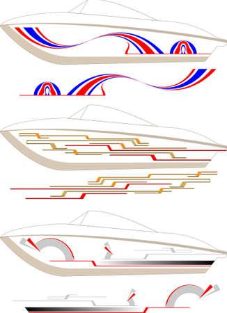 Barca grafica, Stripe: vinile Pronto vettoriali Archivio Fotografico - 46875073