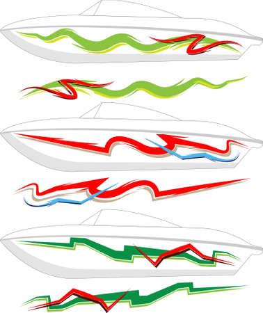autosport: Boat Graphics, Stripe : Vinyl Ready Vector Art Illustration