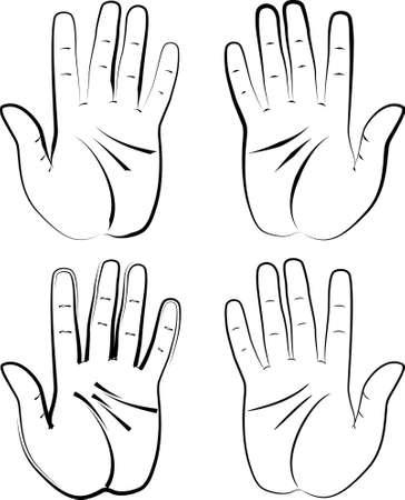 palmistry: Human Hand Design Vector Art