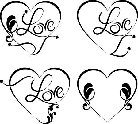 Tattoo Love Word Vector Art Illustration