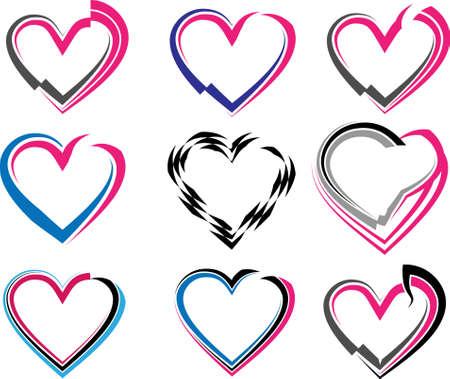 Tattoo Heart Design Vector Art Illustration