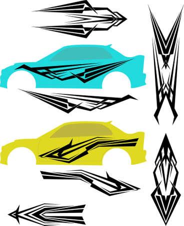 vehicle graphics: Vehicle Graphics, Stripe : Vinyl Ready Vector Art Illustration