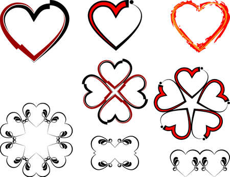 Tattoo Heart Design Vector Art Illustration
