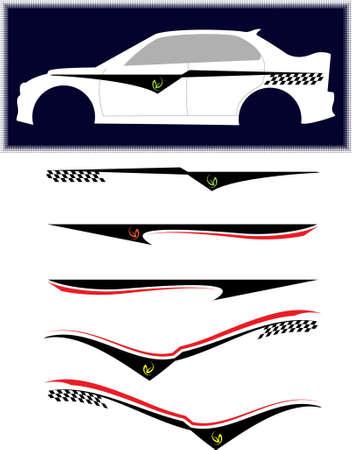 Vehicle Graphics, Stripe: vinile vettoriali Archivio Fotografico - 46876258