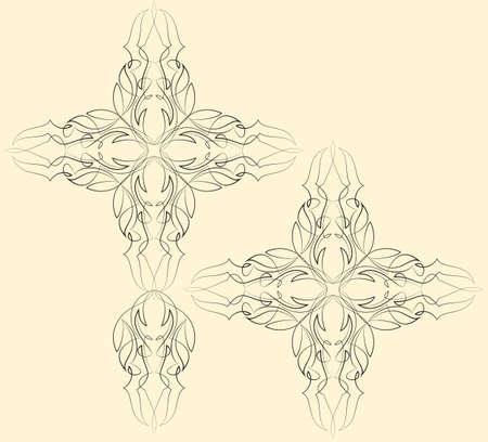 ready: Pinstripe Christian Cross : Vinyl Ready Vector Art