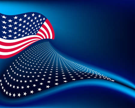 4Th Of July Background Design Vector Art Illustration