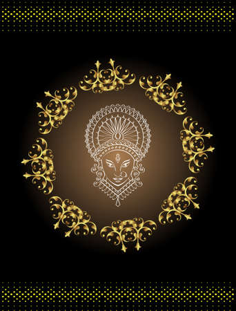 mano de dios: Durga Diosa del Poder Arte Vectorial