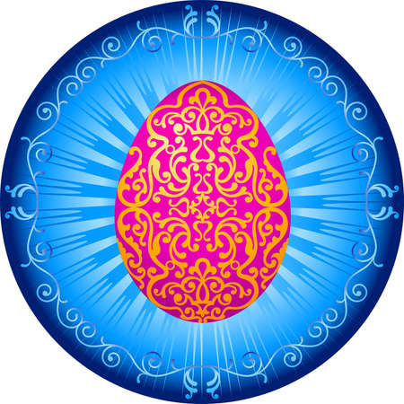 decorative element: Easter Egg Ornamental Vector Art