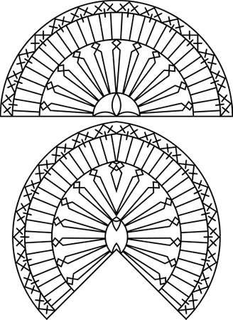 window grill: Wrought Iron Grill, Gate, Door, Fence, Window, Railing Design Vector Art