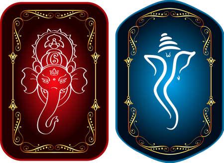mano de dios: Ganesha El Se�or de Sabidur�a Arte Vectorial