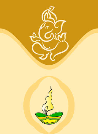 lord: Ganesha The Lord Of Wisdom Vector Art Illustration