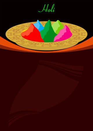 dhulandi: Holi The Festival Of Colours Vector Art