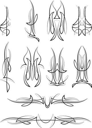 lineas decorativas: Gráficos Pinstripe: Vinilo Listo Vector Art Vectores