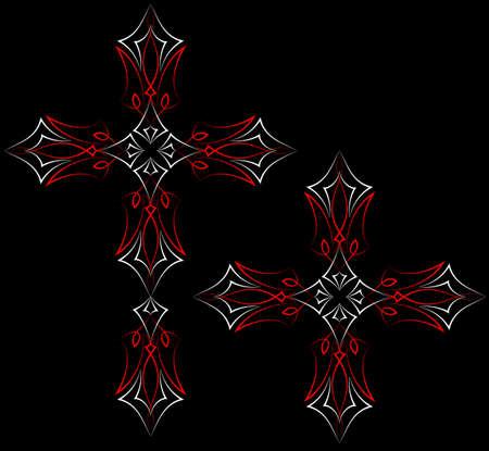 pinstripe: Pinstripe Graphics Cross : Vinyl Ready Illustration