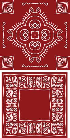 art painting: Folk, Tribal Design, Motif, Wall Painting Vector Art