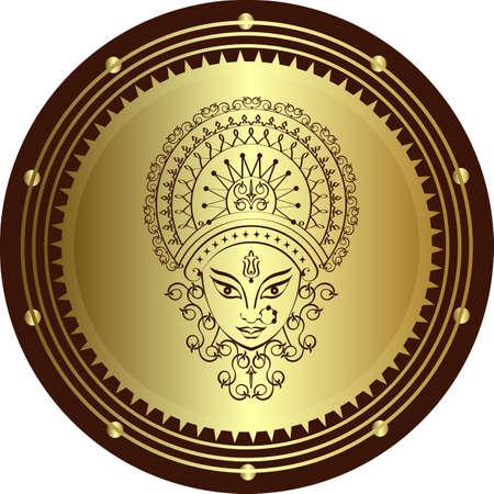 Durga dea della potenza grafica vettoriale Archivio Fotografico - 47305481