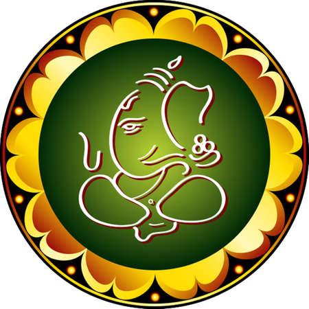 Ganesha The Lord Of Wisdom Vector Art Illusztráció