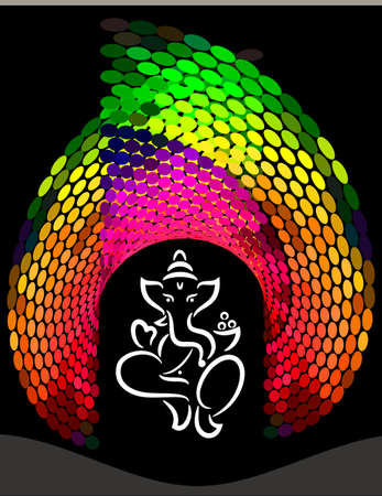 Ganesha The Lord Of Wisdom Vector Art Illustration