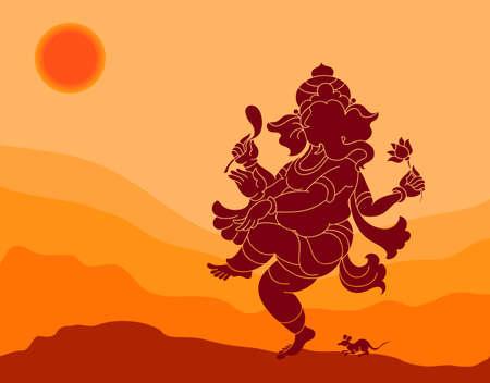 ganesh: Ganesha El Señor de Sabiduría Arte Vectorial