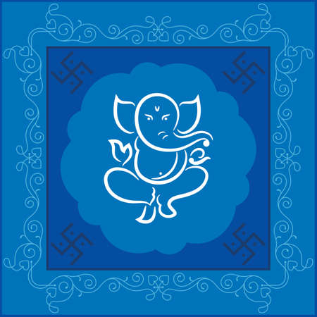 ganesha: Ganesha The Lord Of Wisdom Vector Art Illustration