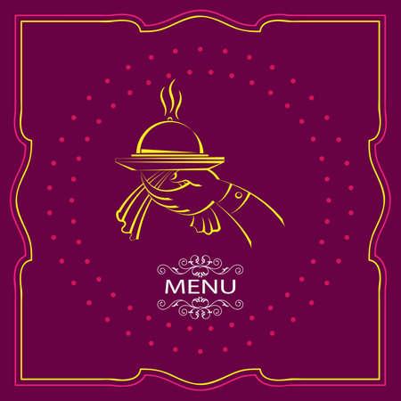 eatery: Menu Card Design Template Illustration